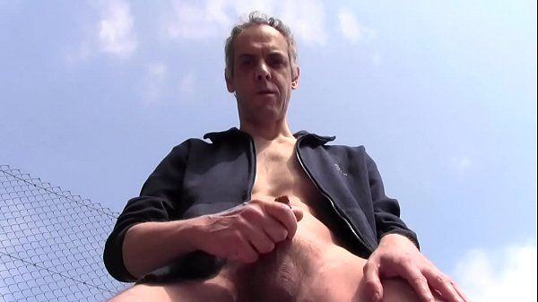 Public, Outdoor, Huge cock, Huge, Balls, Solo ass