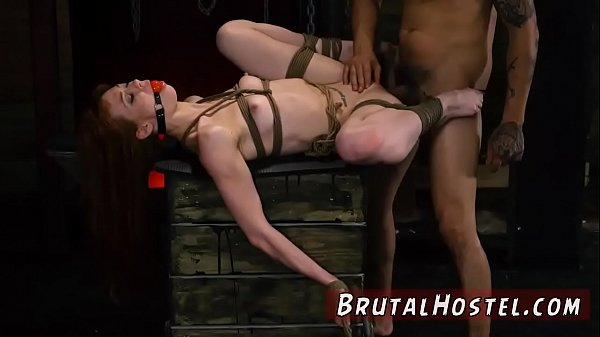 Young girl, Rough anal, Bondage anal