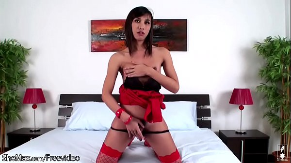 Asian ladyboy, Hairy asian, Red