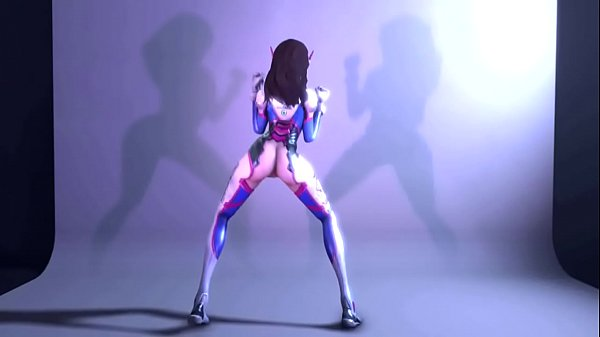 Cartoon, Overwatch, Dancing, D va