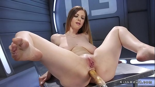 Machine, Natural anal, Busty blond