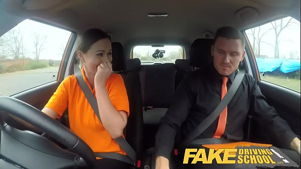 Creampie, School, Fake driving school, Fake driving
