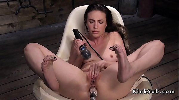 Machine, Anal solo, Solo anal, Sex machine, Brunette anal
