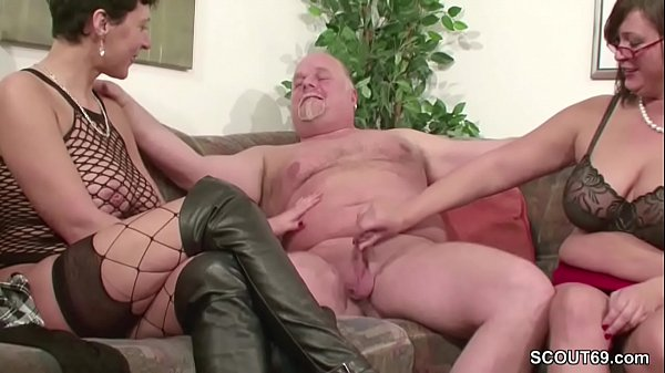 German, Mature threesome, German mature, German milf, Old milf, Old man fuck