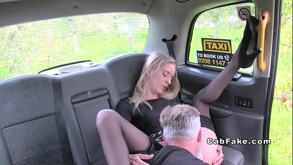 Fake, Fake taxi, Stockings footjob