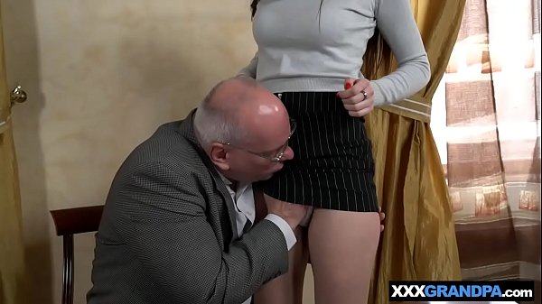 Tight, Grandpa licking