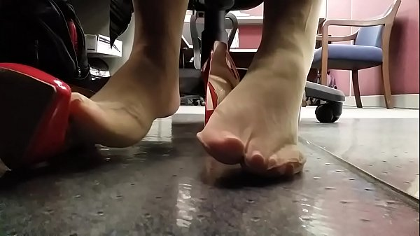 Nylon, Candid, Under, Nylon feet, Candid feet, Desk