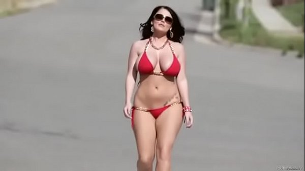 Bikini, Sophie dee, Walking, Sophie, Road
