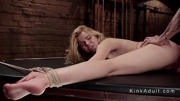 Spanking, Rope, Spank and fuck, Roped, Blond anal